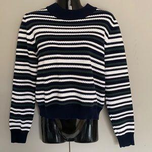Temt Womens Knit Striped Jumper Size Large